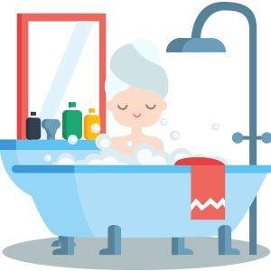シャワーヘッドで塩素除去
