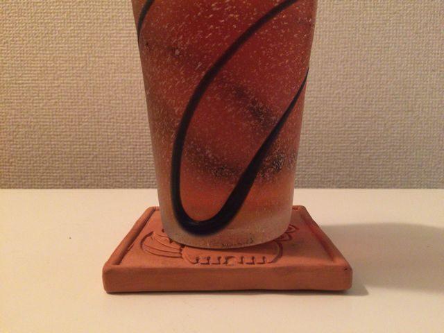 琉球ガラスと赤瓦コースター