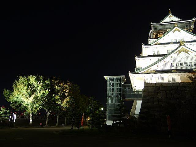 大阪城 ライトアップ