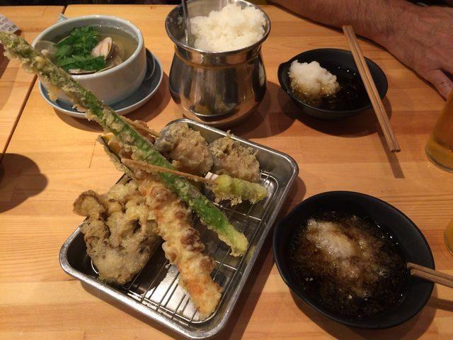 天六 地魚屋台とっつぁんの市場の天ぷら