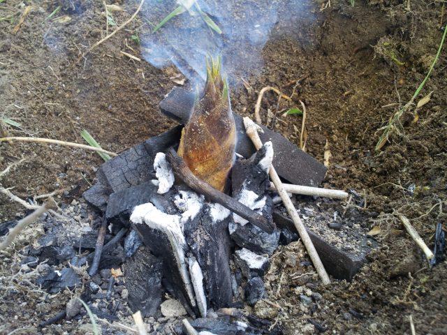 筍の地獄焼き