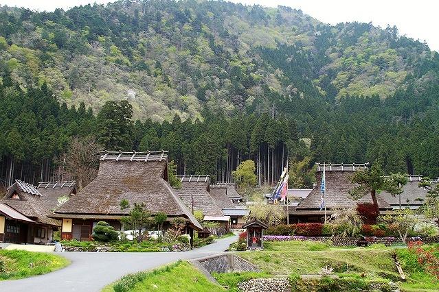 京都美山のかやぶきの里