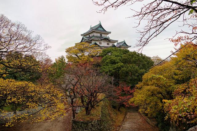 和歌山城 西之丸庭園(紅葉渓庭園)の紅葉