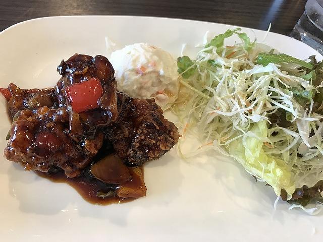 関西医科大学附属病院 レストランのぞみ チキンの酢豚風